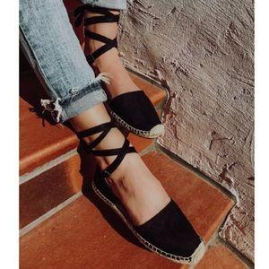 Shoes - 3 left!Ankle Wrap Espadrille Flats